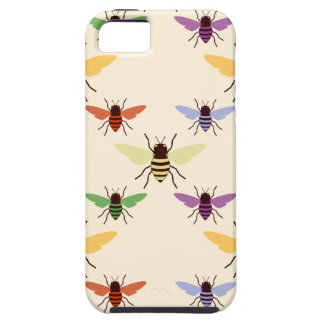 Retro multi color rainbow bees bumblebees pattern iPhone SE/5/5s case