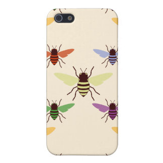 Retro multi color rainbow bees bumblebees pern case for iPhone SE/5/5s