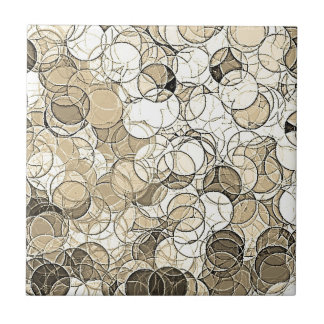 Retro Multi Colored Circles Pattern Tiles