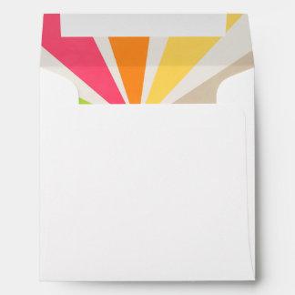 Retro Multi Colored Sunburst Envelope