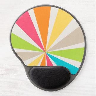 Retro Multi Colored Sunburst Gel Mouse Pad