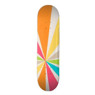 Retro Multi Colored Sunburst Skateboard Deck