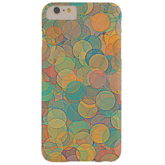 Retro MultiColored Abstract Circles Pattern Barely There iPhone 6 Plus Case