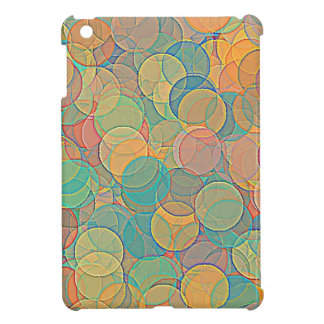 Retro MultiColored Abstract Circles Pattern iPad Mini Covers