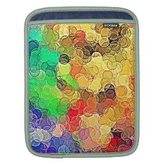 Retro Multicolored Circles Pattern iPad Sleeve