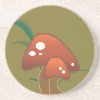 Retro Mushroom Coasters coaster