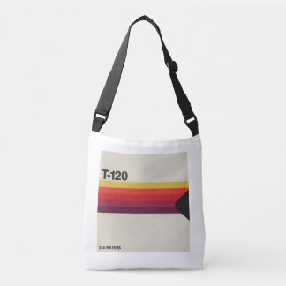 Retro music and video lover cassette tape graphic crossbody bag