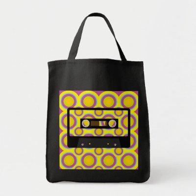 wallpaper retro music. Retro Music Tote Bag by