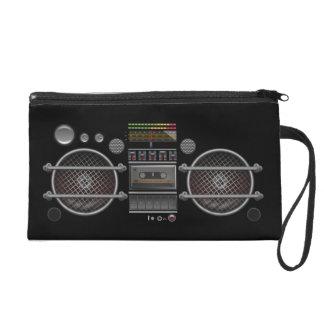 Retro Music  BoomBox Ghetto Blaster  Wristlet