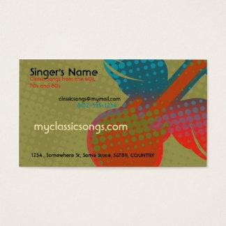 Retro Music Business Card