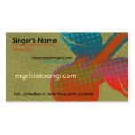 Retro Music Business Card Template