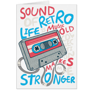 RETRO MUSIC CARD