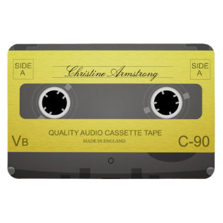Retro music cassette tape custom name magnet