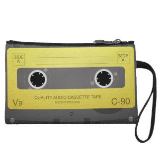 Retro Music Cassette Tape mini clutch Wristlet Clutch