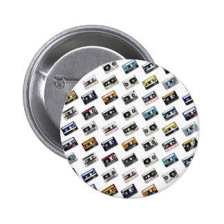 Retro Music Cassette Tapes Pinback Button