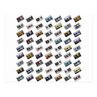 Retro Music Cassette Tapes Postcard