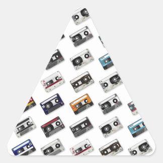 Retro Music Cassette Tapes Triangle Sticker