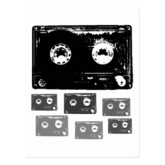 Retro Music Design! Postcard