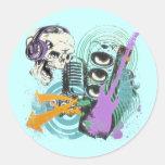 RETRO MUSIC DESIGN STICKERS