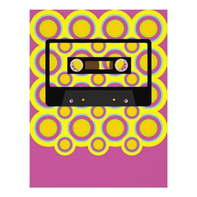 wallpaper retro music. Retro Audio Cassette Tape on Vintage Wallpaper