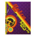 retro music funky vector art flyer design