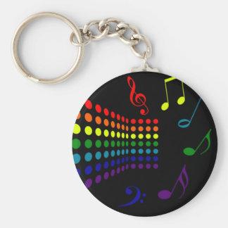 Retro Music II Basic Round Button Keychain