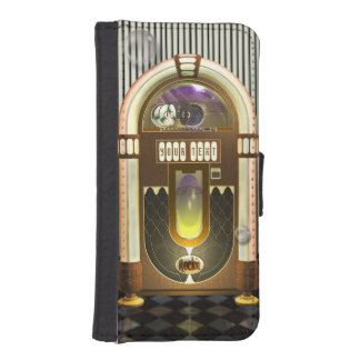 Retro Music Jukebox Personalized Wallet Phone Case For iPhone SE/5/5s