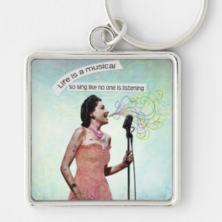 Retro Music Life Is A Musical Singing Keychain