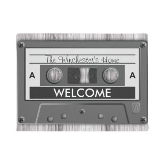 Retro Music Lovers Cassette Tape Welcome Doormat