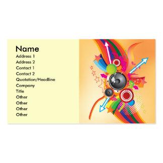 retro_music, Name, Address 1, Address 2, Contac... Business Card Template