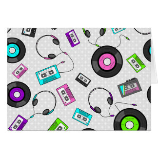 Retro Music Pattern Card