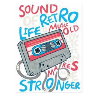 RETRO MUSIC POSTCARD