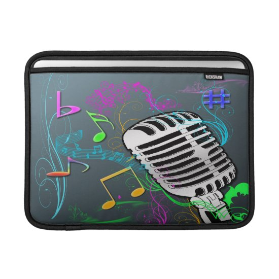 Retro Music Rickshaw MacBook Air Sleeve