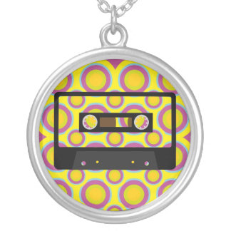Retro Music Silver Plated Necklace