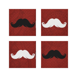 Retro Mustache Custom Room Wall Decor Stretched Canvas Print