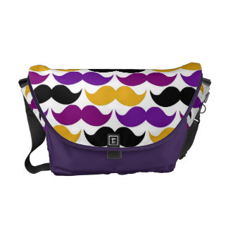 Retro Mustache Handlebar Colorful Pattern Courier Bag