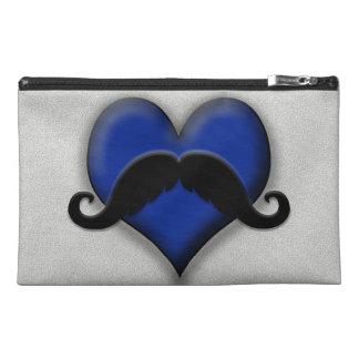 Retro Mustache Heart Travel Accessories Bag