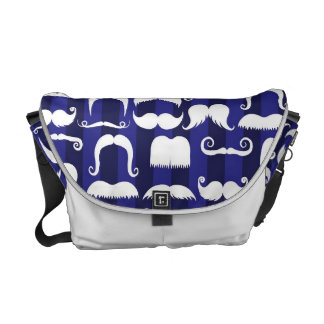 Retro Mustache Messenger Bag