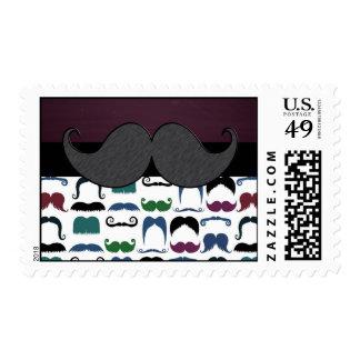 Retro Mustache Moustache Postage Stamp