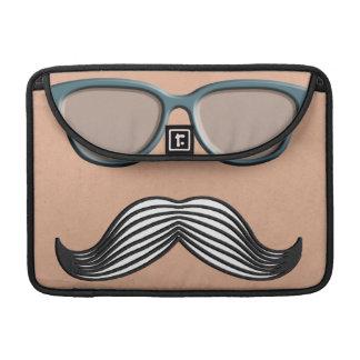 Retro Mustache Moustache Stache MacBook Pro Sleeves