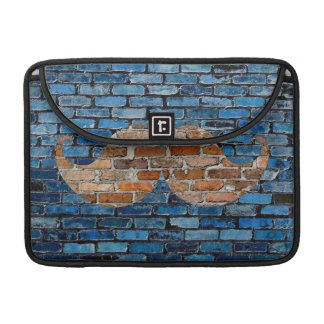 Retro Mustache Moustache Stache on Brick Wall MacBook Pro Sleeve