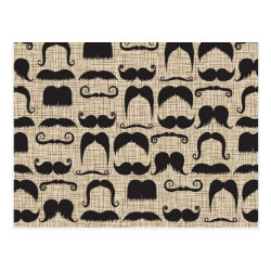 Postcard with Mustache Patterns design