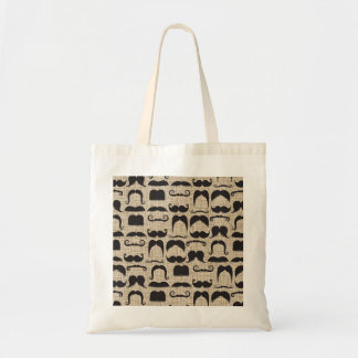Retro Mustache Moustache Stache Pattern Tote Bag