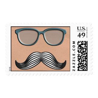 Retro Mustache Moustache Stache Postage