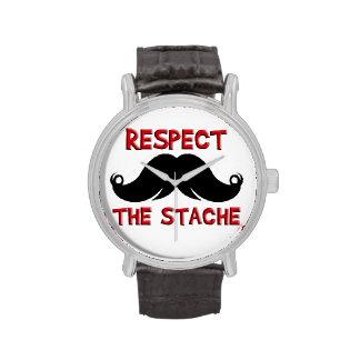 Retro Mustache Moustache Wristwatches