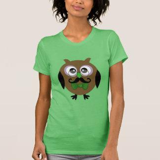 Retro Mustache Owl Shirt