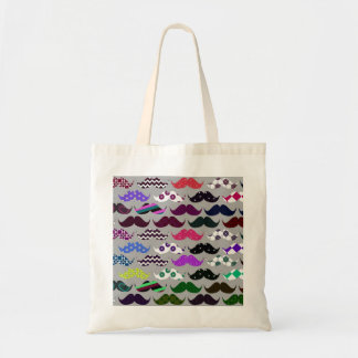 Retro Mustache Pattern Tote Bag
