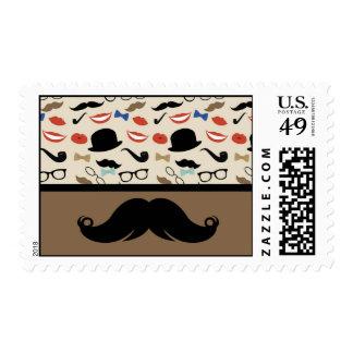 Retro Mustache Stamp