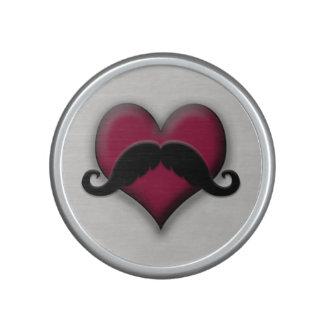 Retro Mustache Stache Heart Handlebar Speaker