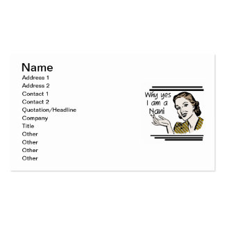 Retro Nani T-shirts and GIfts Business Cards